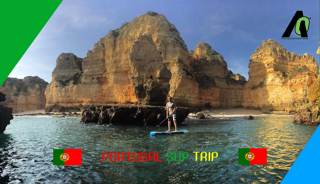 Trip en sup gonflable au Portugal.